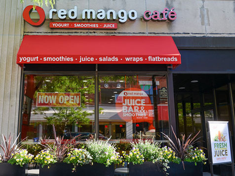 Outside a Red Mango Franchise