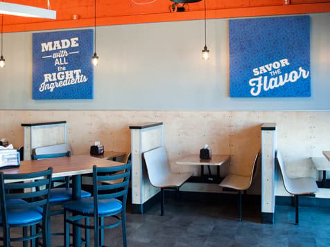 Hot Head Burritos Franchise Seating