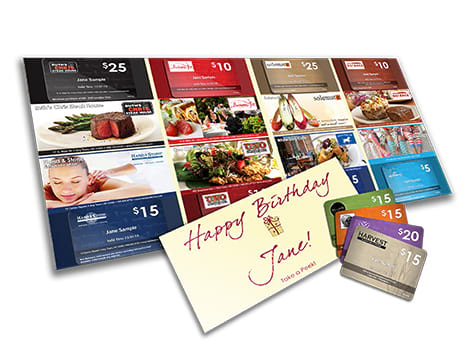 BirthdayPak Franchise Gift Cards