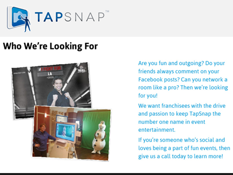 TapSnap Franchise - #1 in event entertainment