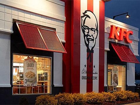 Outside a KFC Franchise