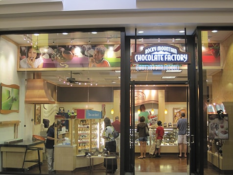 Rocky Mountain Chocolate Factory Franchise Window