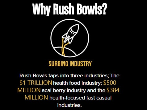 Rush Bowls franchise - part of a growing industry
