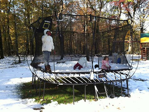 Superior Play Trampoline in the Winter