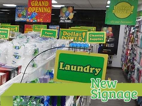 Dollar Store New Signage
