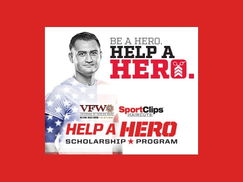 Sport Clips Franchise Help a Hero program