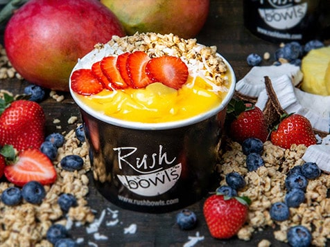 Rush Bowls with fruit, granola and honey