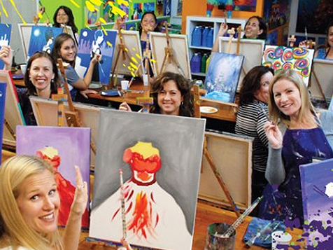A Painting Fiesta Studio Franchise Adult Paint Classes
