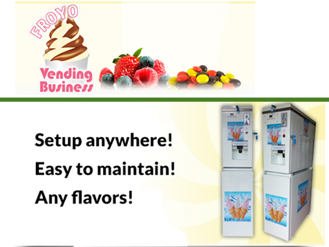 FroYo Vending Business Opportunity vending machines