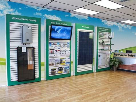 SuperGreen Solutions Franchise Display