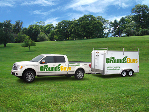 The Grounds Guys Franchise truck