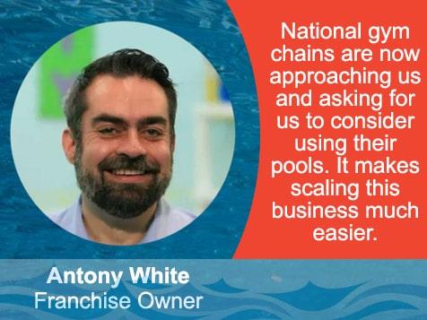 British Swim School Franchisee, Antony White