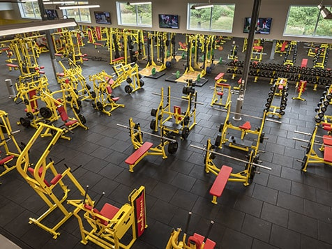 Inside a Retro Fitness