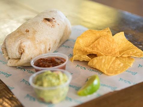 Burrito Shak Franchise burrito with guacamole
