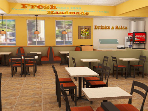 Layout of TacoTime Food Franchise