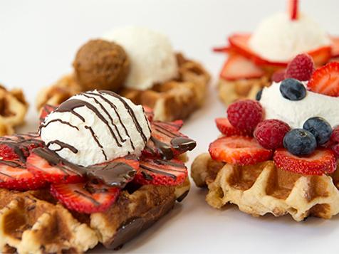 Decadent Belgian waffles