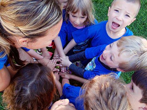 Group of kids in Amazing Athletes Franchise Program