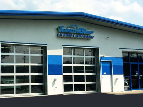 Team Blue Hand Car Wash Franchise Exterior