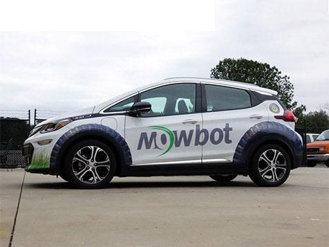 MowBot Franchise Branded Car