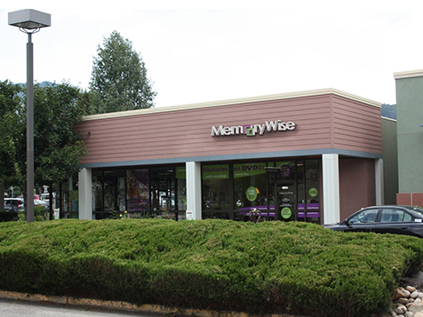 Outside a MemoryWise Franchise Location