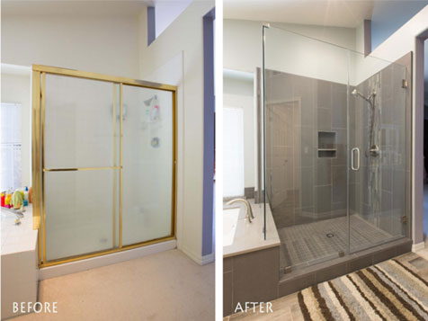 CRATE Franchise Systems, Inc. shower before & after