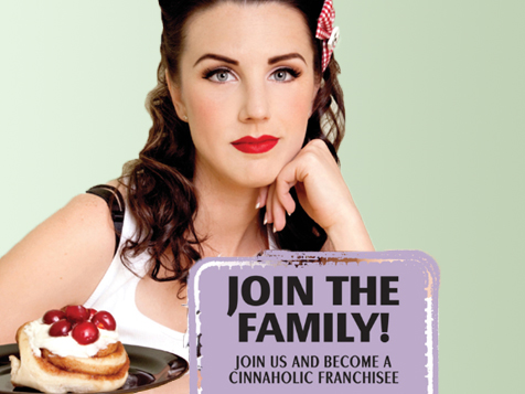 Join the Cinnaholic Gourmet Cinnamon Rolls franchise family
