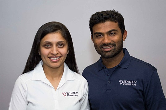 SYNERGY HomeCare franchisees Priyanka and Amit Patel