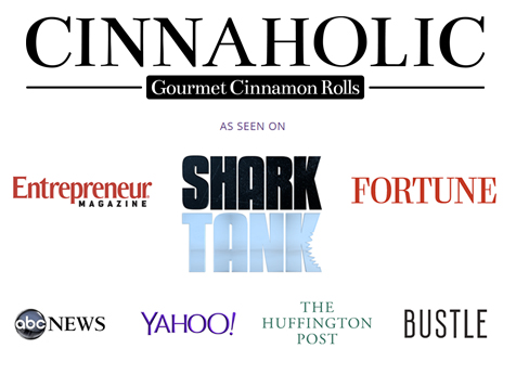 Cinnaholic Gourmet Cinnamon Rolls seen on these media outlets