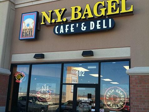 New York Bagel Café & Deli Franchise Storefront Window