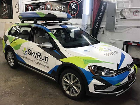 SkyRun Vacation Rentals - Car Wrap