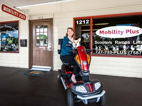 In front of a Mobility Plus Franchise