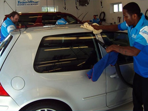 Full Service at a Team Blue Hand Car Wash Franchise
