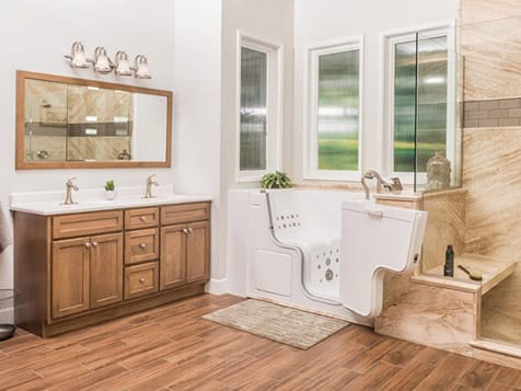 A Bathroom Remodeled by the Re-Bath Franchise