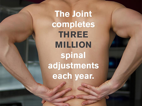 The Joint Chiropractic Franchise 3 million adjustments per year