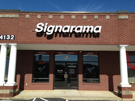 Outside a Signarama franchise