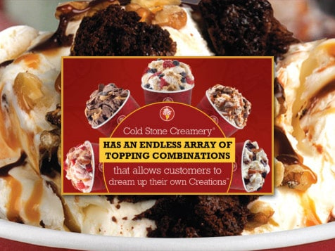 Cold Stone Creamery Franchise - customization trend