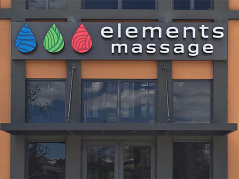 Elements Therapeutic Massage Franchise Signage
