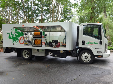 Schneider Shrub and Tree Care Franchise Vehicle
