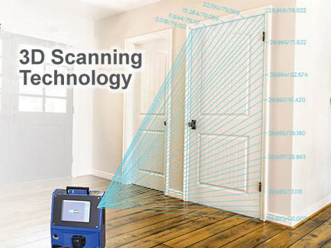 3D Scanner used by One Day Doors & Closets
