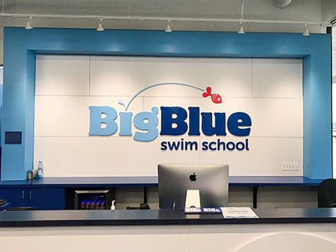 Big Blue Swim School Franchise front desk