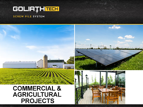 GoliathTech supports commercial and agricultural projects