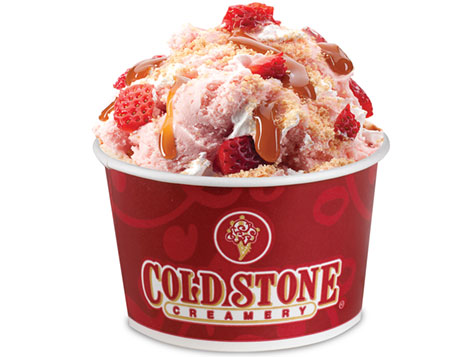 Cold Stone Creamery Franchise Strawberry Ice Cream