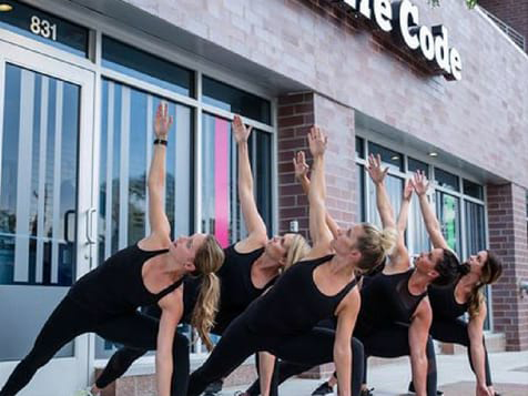Outside a Barre Code Fitness Franchise