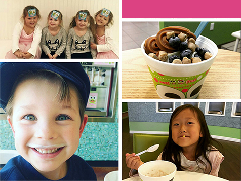 """Hoppy"" customers at a sweetFrog Franchise"