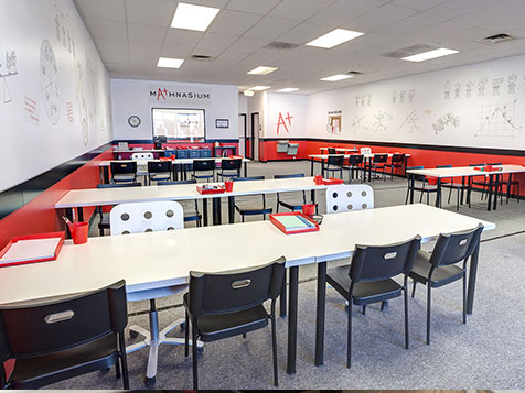 A bright Mathnasium franchise classroom