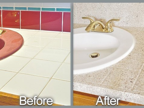 Miracle Method - Bathroom Counter Before and After