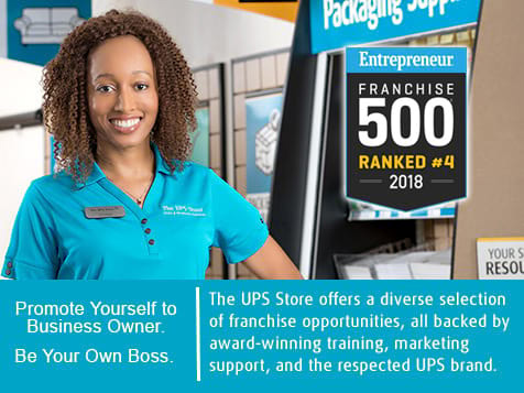 The UPS Store Ranked #4 on Franchise 500