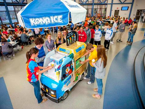 Kona Ice Franchise kiosk