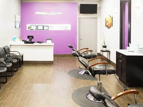 Inside a Magic Brow Franchise Location