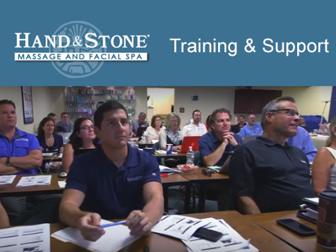 Training & Support Provided by the Hand and Stone Massage Spa Franchise